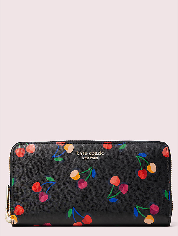 spencer cherries zip-around continental wallet, , rr_large