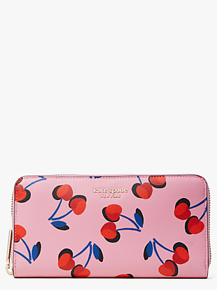 spencer cherries zip-around continental wallet by kate spade new york non-hover view