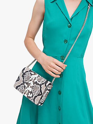 spencer python-embossed chain wallet by kate spade new york hover view
