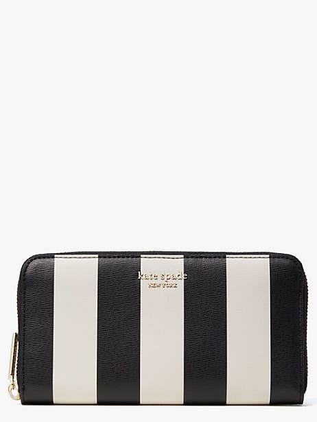 spencer stripe zip-around continental wallet by kate spade new york