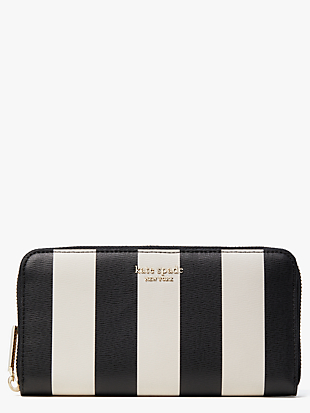 spencer stripe zip-around continental wallet by kate spade new york non-hover view