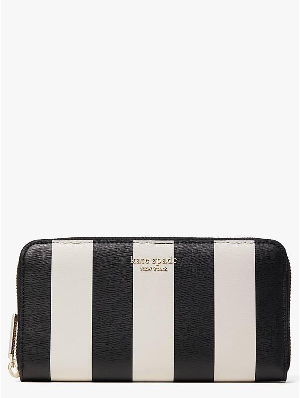 Spencer Brieftasche im Querformat mit Streifen und durchgehendem Reißverschluss, , rr_large