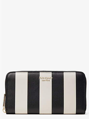 spencer stripe zip-around continental wallet, , rr_productgrid