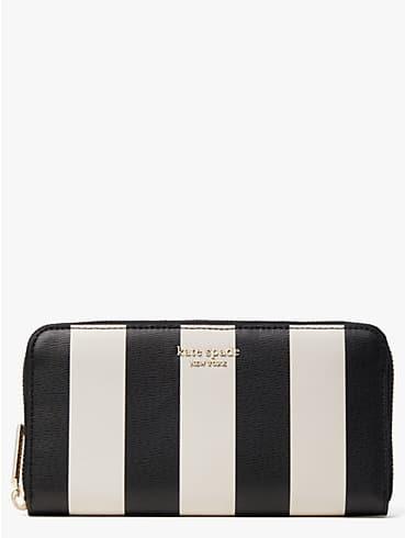 Spencer Brieftasche im Querformat mit Streifen und durchgehendem Reißverschluss, , rr_productgrid