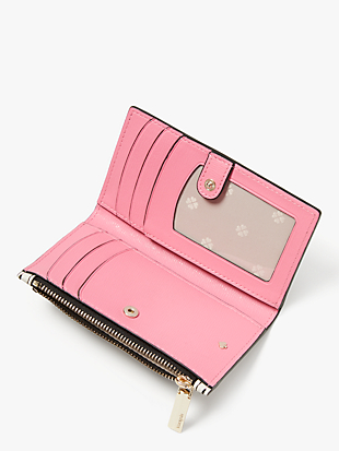 spencer stripe small slim bifold wallet by kate spade new york hover view