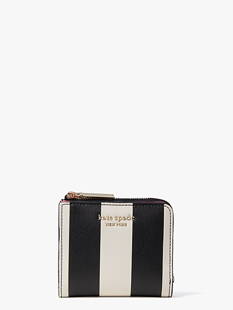spencer stripe small bifold wallet by kate spade new york