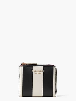 spencer stripe small bifold wallet by kate spade new york non-hover view