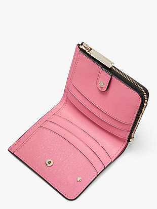 spencer stripe small bifold wallet by kate spade new york hover view