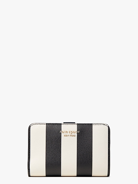 spencer stripe compact wallet by kate spade new york