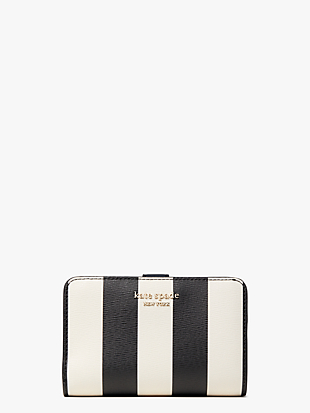 spencer stripe compact wallet by kate spade new york non-hover view