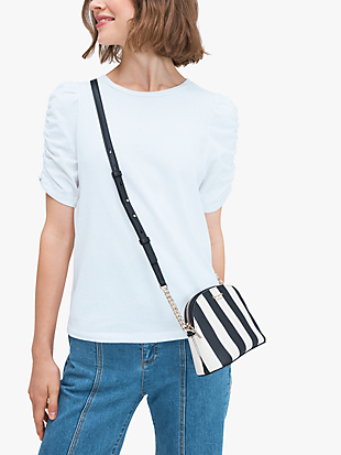 spencer stripe small dome crossbody by kate spade new york hover view