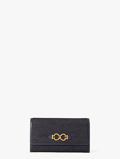 toujours denim chain clutch by kate spade new york