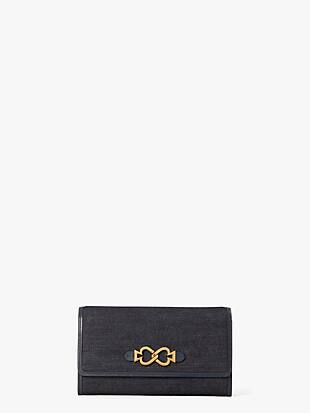 toujours denim chain clutch by kate spade new york non-hover view