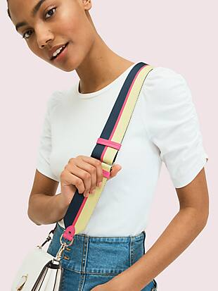 make it mine thick striped webbed crossbody strap by kate spade new york hover view