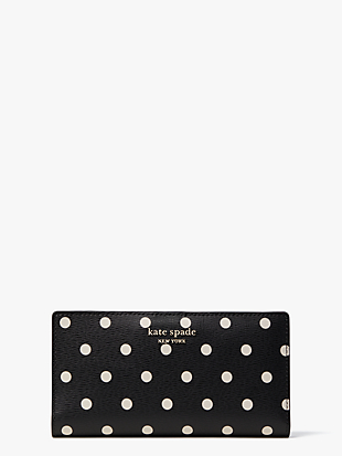 spencer cabana dot slim bifold wallet by kate spade new york non-hover view