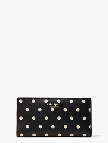 "Schmale Spencer Faltbrieftasche mit ""Cabana Dot""-Muster, , rr_productgrid"