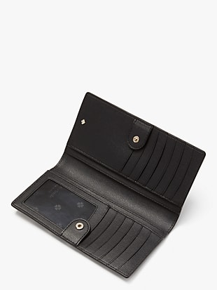 spencer cabana dot slim bifold wallet by kate spade new york hover view