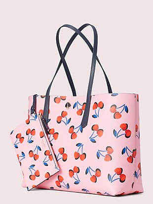 molly cherries large tote by kate spade new york hover view
