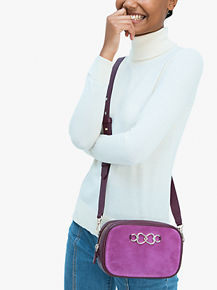infinite suede medium camera bag by kate spade new york hover view