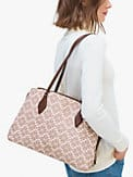 spade flower coated canvas zeezee large work tote, , s7productThumbnail