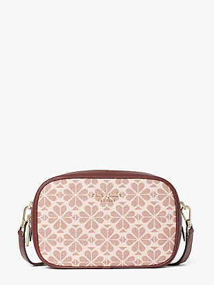 spade flower coated canvas infinite medium camera bag by kate spade new york non-hover view
