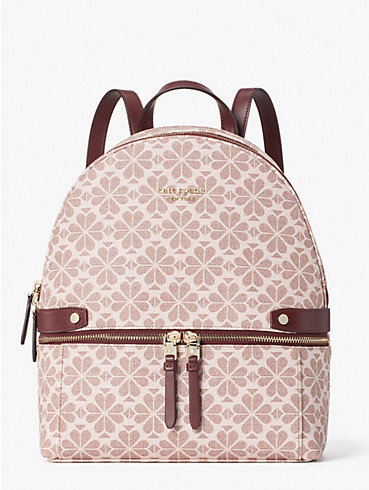 spade flower coated canvas day pack medium backpack, , rr_productgrid