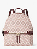 spade flower coated canvas day pack medium backpack, , s7productThumbnail