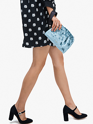 party velvet clutch by kate spade new york hover view