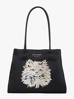 everything puffy cat large tote by kate spade new york non-hover view