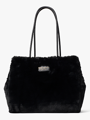 everything faux-fur large tote by kate spade new york non-hover view