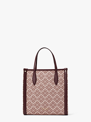 spade flower coated canvas medium north south tote by kate spade new york non-hover view
