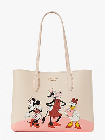 disney x kate spade new york clarabelle & friends large tote, , rr_productgrid
