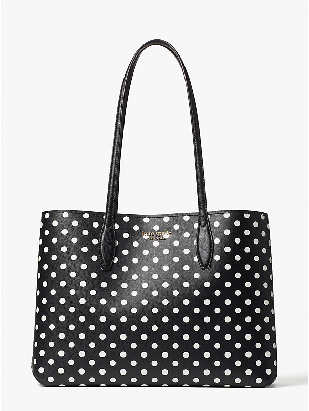 all day domino dot large tote, , rr_large