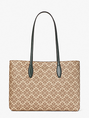 spade flower coated canvas all day large tote by kate spade new york non-hover view