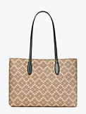 spade flower coated canvas all day large tote, , s7productThumbnail