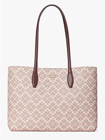 spade flower coated canvas all day large tote, , rr_productgrid