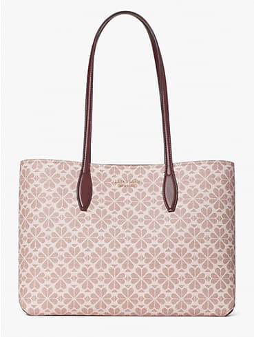 Spade Flower All Day Tote Bag aus beschichtetem Canvas, groß, , rr_productgrid