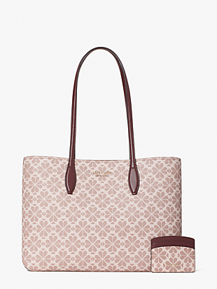 spade flower coated canvas all day large tote by kate spade new york hover view