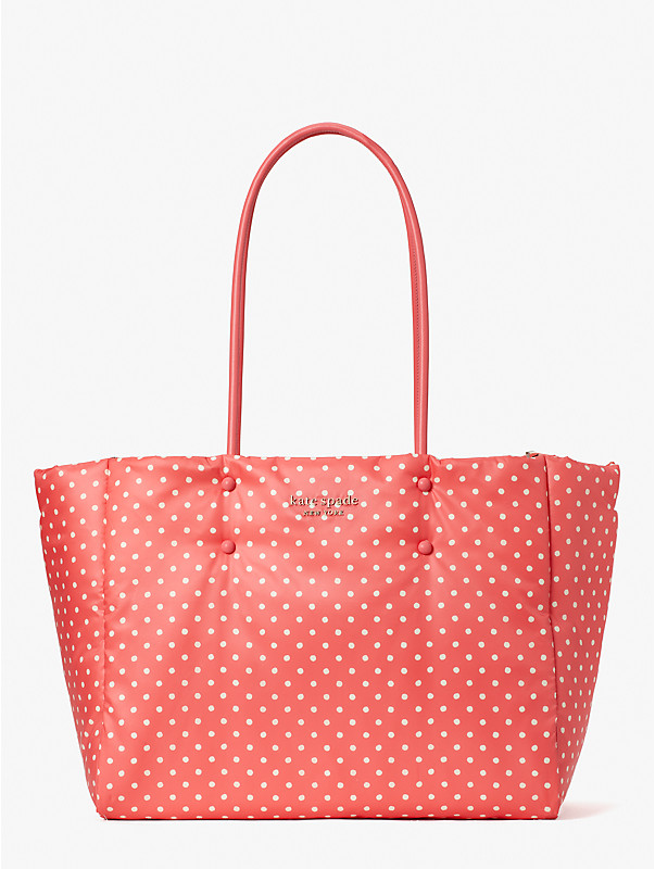 Everything Puffy Dots Tote Bag, groß, , rr_large