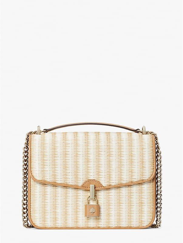 locket straw large flap shoulder bag, , rr_large