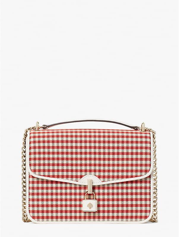 locket plaid large flap shoulder bag, , rr_large