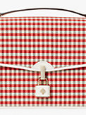 locket plaid large flap shoulder bag, , s7productThumbnail