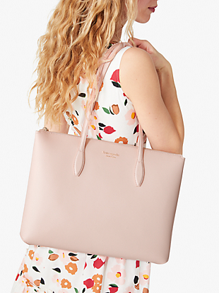 all day large zip-top tote by kate spade new york hover view