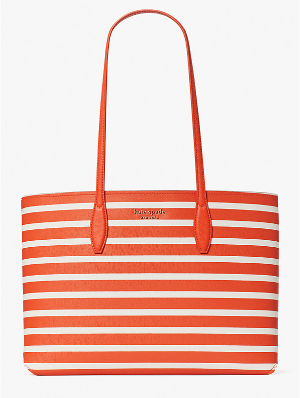 all day sailing stripe large tote, , rr_large