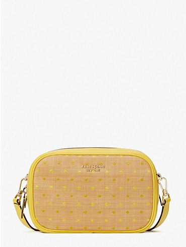 astrid raffia dot medium camera bag, , rr_productgrid