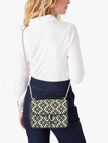 spade flower jacquard locket large flap shoulder bag, , rr_productgrid