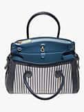 knott stripe medium satchel, , s7productThumbnail