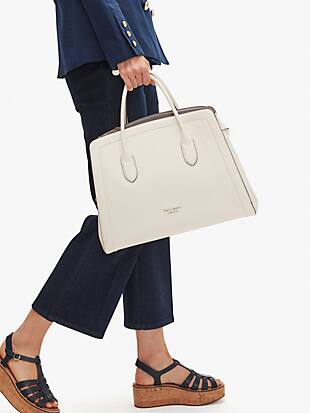 knott extra-large satchel by kate spade new york hover view