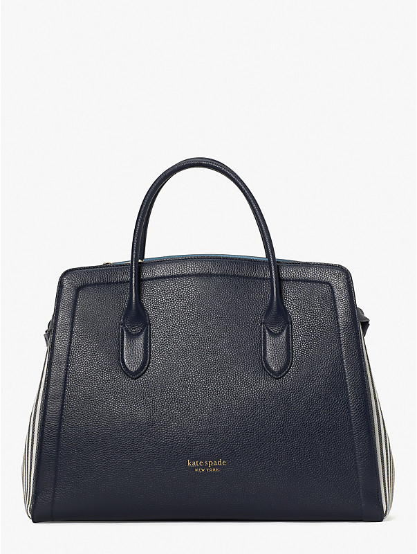 knott stripe extra-large satchel, , rr_large