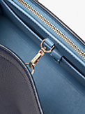 knott stripe extra-large satchel, , s7productThumbnail